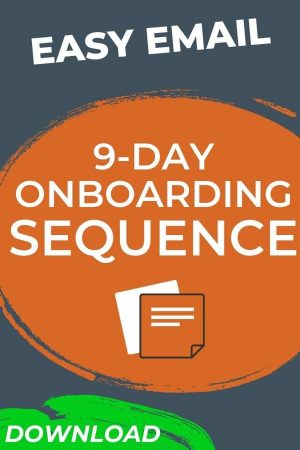 9-day Onboarding Email Sequence